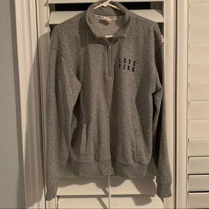 PINK 1/2 Zip Sweater